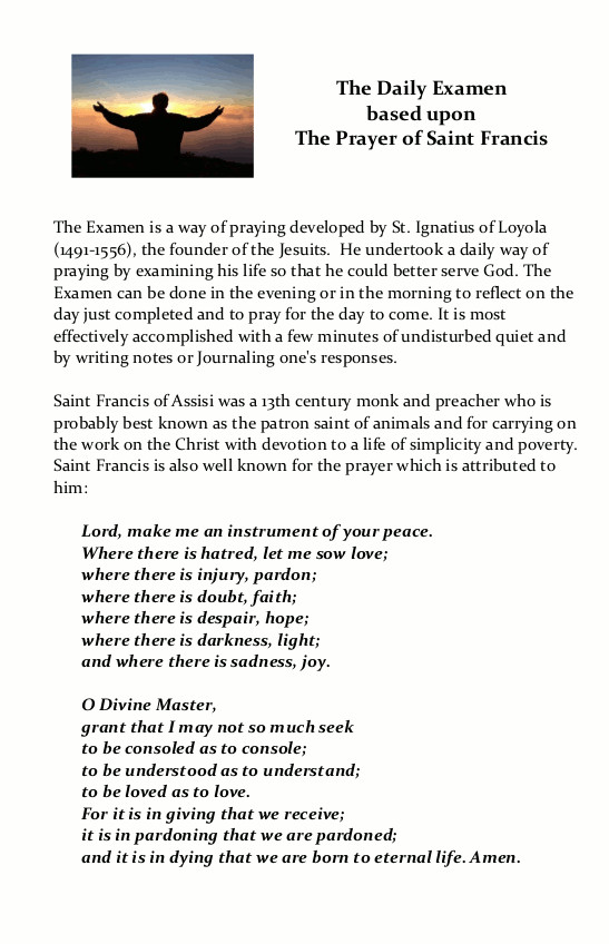 The Prayer of Saint Francis Page 1