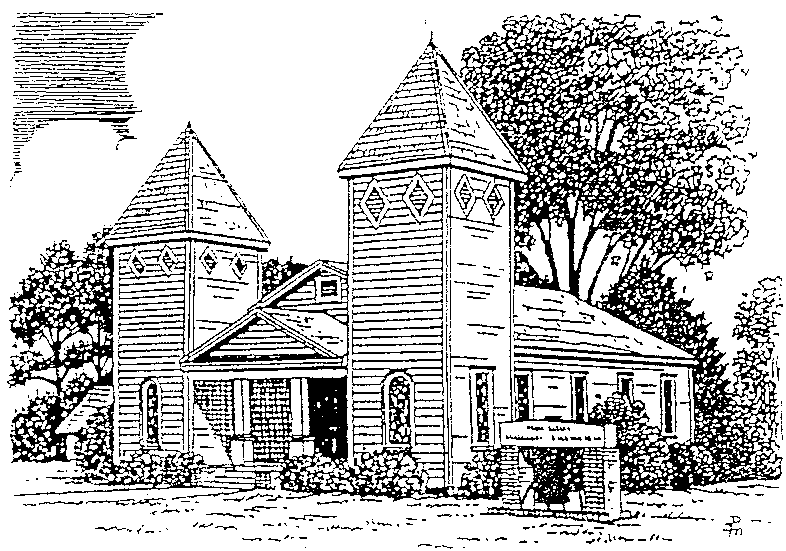 Line Drawing of Church