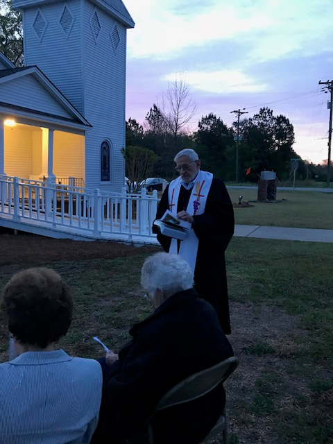 Rev. Gavalas Starts the Service