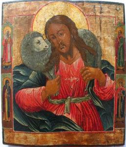Byzantine Icon: Jesus, the Good Shepherd