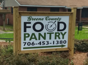 Greene County Food Pantry sign