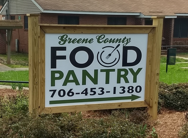 Greensboro Food Pantry sign