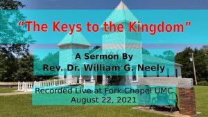 "Sermon title - ""The Keys to the Kingdom"""